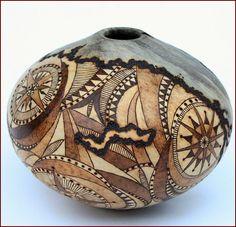 Michael Jackofsky & Georgianne Jackofsky. Not a gourd, bot a good idea for decorating one.