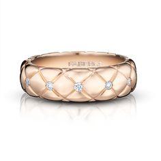 Rose Gold Diamond Ring - Fabergé Fine Treillage Rose Vif Ring