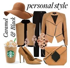 """""""Caramel & Coffee"""" by lullulu on Polyvore featuring Acne Studios, River Island, Pierre Hardy, Anne Sisteron and Dee Keller"""