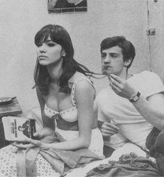 """Une femme est une femme"" by Jean-Luc Godard, 1961. Anna Karina and Jean-Paul Belmondo."
