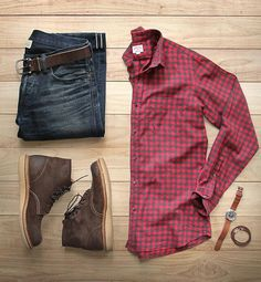 Combo Red - Brown