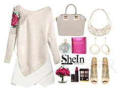 """""""Pink Roses"""" by fashionkat20 ❤ liked on Polyvore featuring Steve Madden, Forever 21, Elizabeth Taylor, Lux-Art Silks, Lipstick Queen and Tom Ford"""