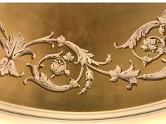 Vintage Floral Backgrounds, Ornament Drawing, Off White Paints, Wall Painting Decor, Grisaille, Moroccan Decor, Mural Art, Ceiling Design, Painted Furniture