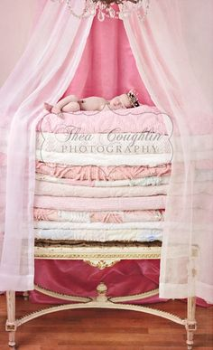 Baby Photo ideas: Princess and the Pea #newborn #photo #idea