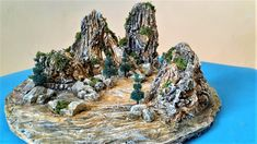 How to Make a Landscape Hill diorama Stone Glue, Acrylic Colors, Diorama, Make It Yourself, Landscape, How To Make, Beautiful, Model, Scenery
