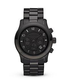 Michael Kors Men's Black Watch, 45mm | Bloomingdale's