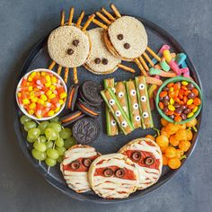 to make a Spooky Halloween Snack Board. Get tips and directions to make heal. How to make a Spooky Halloween Snack Board. Get tips and directions to make heal., How to make a Spooky Halloween Snack Board. Get tips and directions to make heal. Halloween Desserts, Spooky Halloween, Comida De Halloween Ideas, Bolo Halloween, Hallowen Food, Halloween Party Snacks, Halloween Appetizers, Healthy Halloween Treats, Halloween Stuff