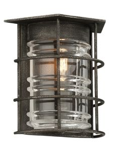 Check out the Troy Lighting Brunswick 1 Light Outdoor Wall Sconce in Aged Pewter Black Wall Sconce, Indoor Wall Sconces, Outdoor Wall Sconce, Outdoor Wall Lighting, Wall Sconce Lighting, Outdoor Walls, Outdoor Spaces, Victorian Wall Sconces, Rustic Wall Sconces