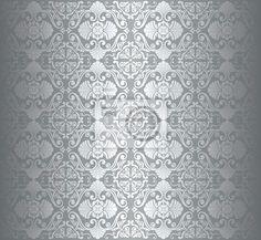 FOTOTAPETA: Elegancki srebrny tapeta, vintage luxury (4626472142)