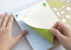 Origami calendar for Daikin Singapore.