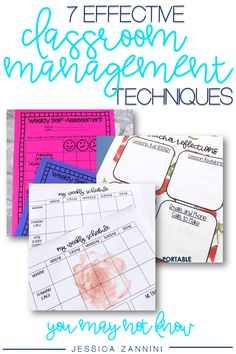 Here are 7 classroom management techniques you need to start using today.  Find out how to save time, reduce teacher stress, and have an efficient classroom management plan.