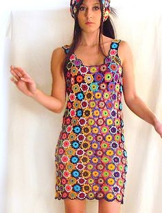 Crochet Circle'd Multicolored Dress