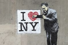 Banksy graffiti/street art - Better Out Than In: An artists residency on the streets of New York City. Description from pinterest.com. I searched for this on bing.com/images