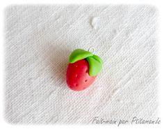 Tuto : comment réaliser une fraise en pâte polymère, par Ptitamande