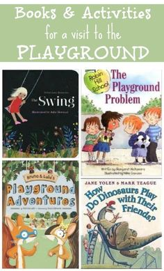 Fun books to read about playing at the playground! Perfect for teaching shared play, manners and taking turns. Activities For 2 Year Olds, Craft Activities For Kids, Kids Crafts, Summer Activities, Book Crafts, Activity Games, Literacy Activities, Best Children Books, Childrens Books
