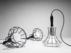 LAMPADA DA TAVOLO IN FERRO COLLEZIONE LADY CAGE BY ZAVA | DESIGN MASSIMO ROSATI