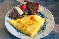 Superlækker omelet med rugbrød