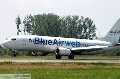YR-BAL Blue Air - Boeing 737-484 Blue Air, Airline Travel, Aircraft, Vehicles, Aviation, Rolling Stock, Airplanes, Vehicle, Airplane