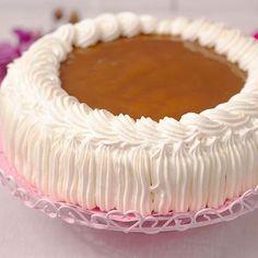 Cream cake with caramel filling Pie Recipes, Sweet Recipes, Baking Recipes, Pasta Cake, Finnish Recipes, Sweet Pastries, Cream Cake, Pie Dish, Cake Decorating