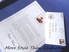 A free letter from Santa printable envelope for you to sent!