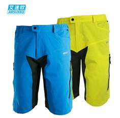 RSUXEO Mens Outdoor Sports Cycling Clothing Downhill MTB Shorts With Pad  Bike Bicycle Shorts Wear Mtb 7584171a48