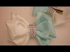 Бантики из Репсовой Ленты. КАНЗАШИ Своими Руками. DIY Cute Hair Bow Kanzashi Ribbon Fower - YouTube