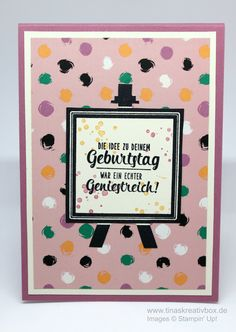 Pop-Up Karte Kunterbunt mit Produkten von Stampin' Up!