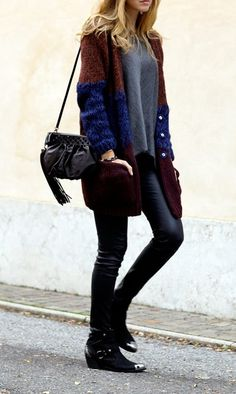 Colorblock sweaters.