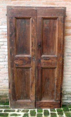 Porte antiche a 2 ante in rovere del '700 cm210x110 (una di sei porte uguali). | eBay