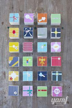 FREE printable Advent calendar Boxes, so fun