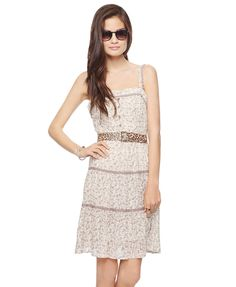 tiered floral dress (i hate the belt they're showing with it, but a different one would look cute)