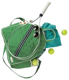 cinda b Verde Bonita Women's Tennis Tote Bag. Haul and store all of your tennis gear in style, on and off the court, with this roomy tennis tote. The front racquet pocket holds up to 2 standard-sized racquets. Two side pockets for ample storage. Tennis Bags, Tennis Gear, Tennis Clothes, Diy Clothes, Tennis Match, Play Tennis, Tennis Crafts, Tennis Pictures, Tennis Accessories