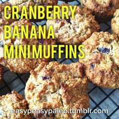 These little cranberry muffins are absolutely yummy, take moments to prepare and only mins to bake. Perfect as a school lunch box add in. Mini Banana Muffins, Cranberry Muffins, School Lunch Box, Paleo Sweets, Easy Peasy, Frozen, Plate, Baking, Food
