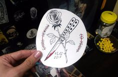 #эскиз #ink #sketch #blacktattoo #tattoo #sketchtattoo #нож #нежность #роза #rose #knife