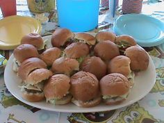 "Spongebob Birthday party-""Crabby Patties"" (burger sliders) and Ocean water for drinks (any blue drink)"