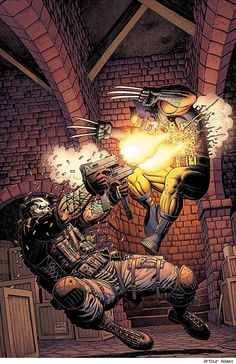 Wolverine vs. Crossbones by Arthur Adams