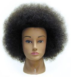 Celebrity Naomi Budget Cosmetology Ethnic Human Hair Manikin, Afro * Want additional info? Click on the image.