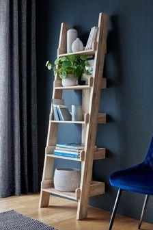 Light Oak Effect Bronx Ladder Shelves Shelves Ladder Bookshelf Bookcase Shelves