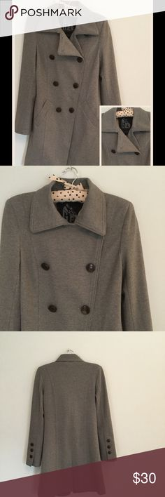 Fall Coat by GET Fall Coat by GET-Front Pockets- Back Slit-Fully Lined-Classic Design-Shell66% Rayon-30% Nylon-4%Spandex- Raw SeamsLining 100%Polyester-Machine Wash Cold-Line Dry.Like new-Only worn a few times. Jackets & Coats
