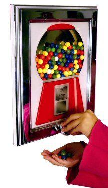 framed bubble gum machine dispenser - Google Search