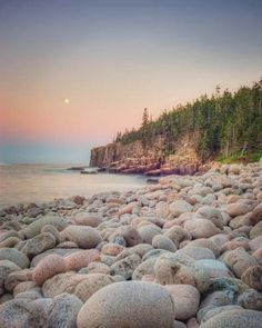 Moonrise, Acadia National Park - fine art Maine landscape photography print by Allison Trentelman #travel #maine #usa