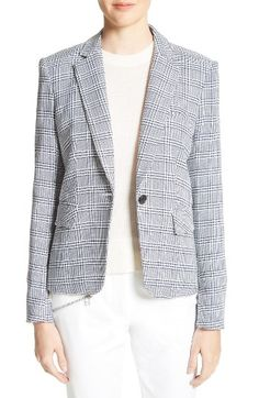 Free shipping and returns on Veronica Beard Leo Schoolboy Blazer at Nordstrom.com. The latest version of Veronica Beard's schoolboy blazer, this preppy plaid jacket features the same shrunken proportions, but is updated with full-length sleeves.