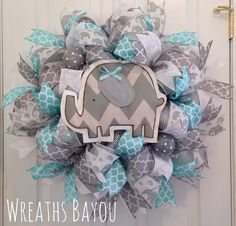 Baby elephant wreath by Wreaths Bayou