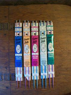 Vintage Susan Bates Metal Knitting Needles Sizes by EmmasHeritage vintage knitting needles, vintage knitting supplies, vintage craft supplies, Susan Bates knitting needles, vintage metal knitting needles, vintage style, vintage living, hand made knitting