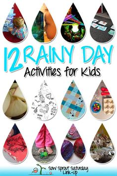 12 Rainy Day Activities for Kids *Link-Up Here!* #artsandcraftsforgirlsage5,