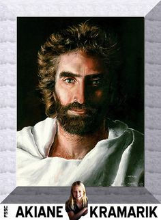 """This is the painting that is the image of Christ that is """"just right"""" in the book, """"Heaven Is For Real"""". It is amazing that it was painted by Akiane Kramarik when she was 8 years old. This painting  can be used as a witnessing tool. #jesus #art"""