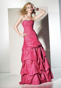 Sweetheart Taffeta A line Sleeveless Asymmetric Waist With Pick ups Prom Gown