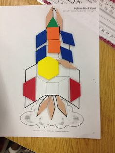 Kroger's Kindergarten: Space fun with pattern block rockets, counting frame rockets, short u suns, space books, etc. Space Theme Preschool, Space Activities, Preschool Activities, Airplane Activities, Space Classroom, Classroom Themes, Space Projects, Space Crafts, Outer Space Theme