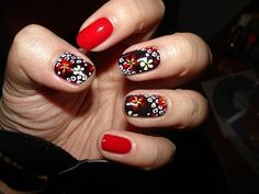 Red is such a colour which is very well liked among women of all ages. Here are the top 9 red nail art designs with pictures which definitely attracts you. Nail Art Designs, Creative Nail Designs, Black Nail Designs, Colorful Nail Designs, Beautiful Nail Designs, Nail Polish Designs, Creative Nails, Nails Design, Red Nail Art