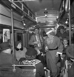 Santa Claus at a tram in Stockholm 1950 by Stockholm Transport Museum Commons, via Flickr